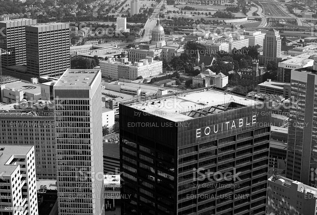 Downtown Atlanta stock photo