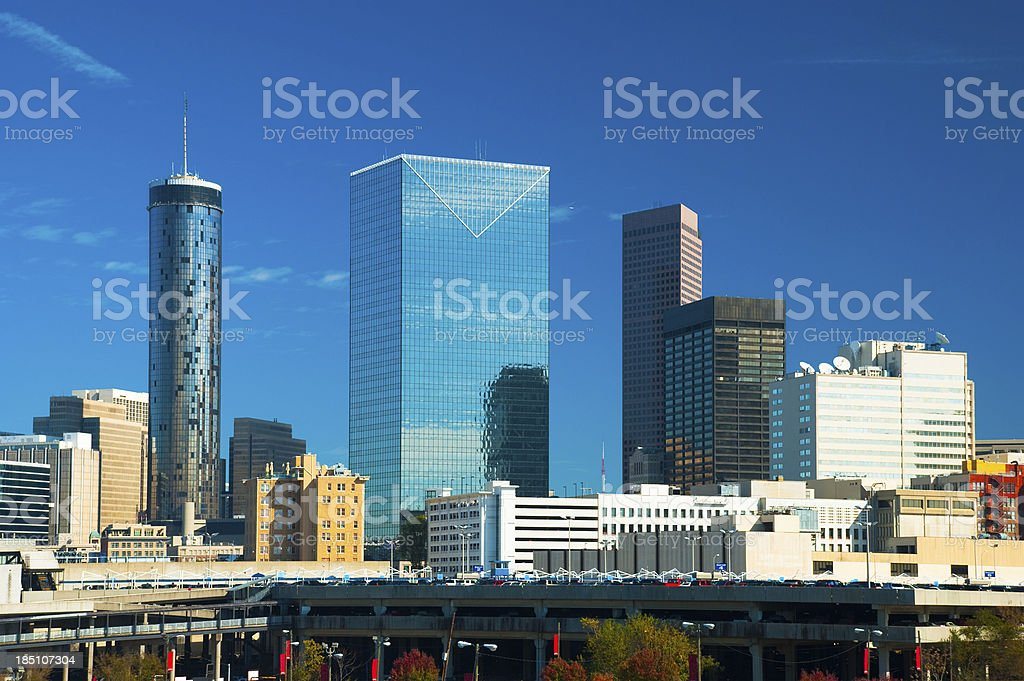 Downtown Atlanta scene stock photo
