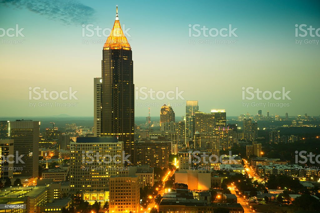 Der Innenstadt von Atlanta-Skyline bei Sonnenuntergang – Foto