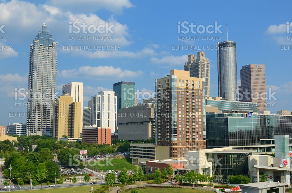 Downtown Atlanta Skyline stock photo
