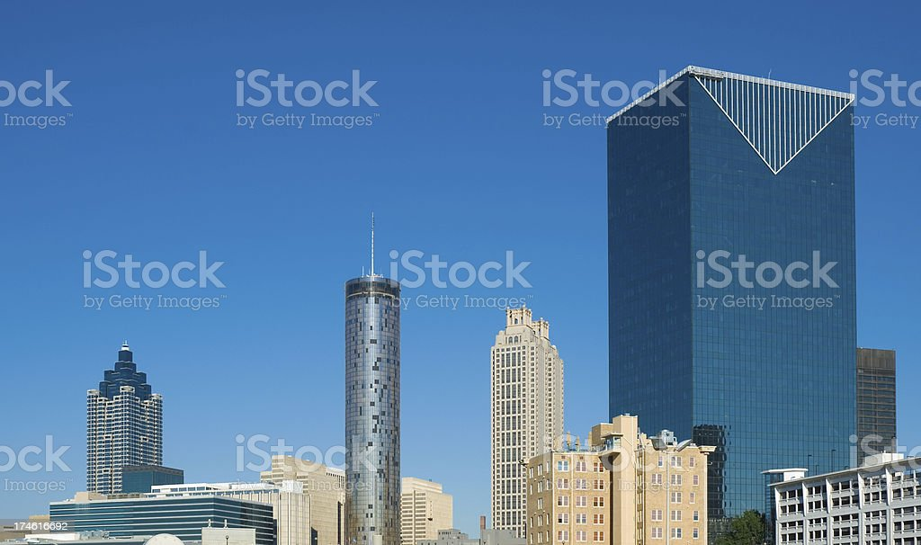 Downtown Atlanta skyscrapers stock photo