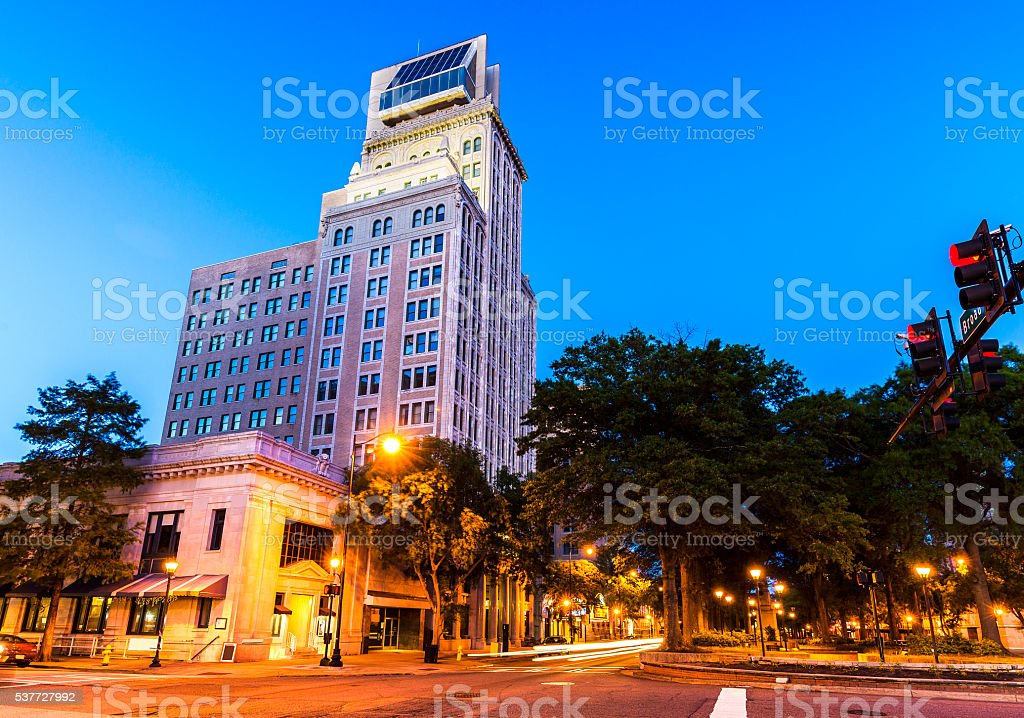 Downtown Augusta, Georgia stock photo