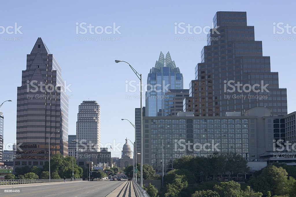 Downtown Austin from the Congress Avenue Bridge royalty-free stock photo
