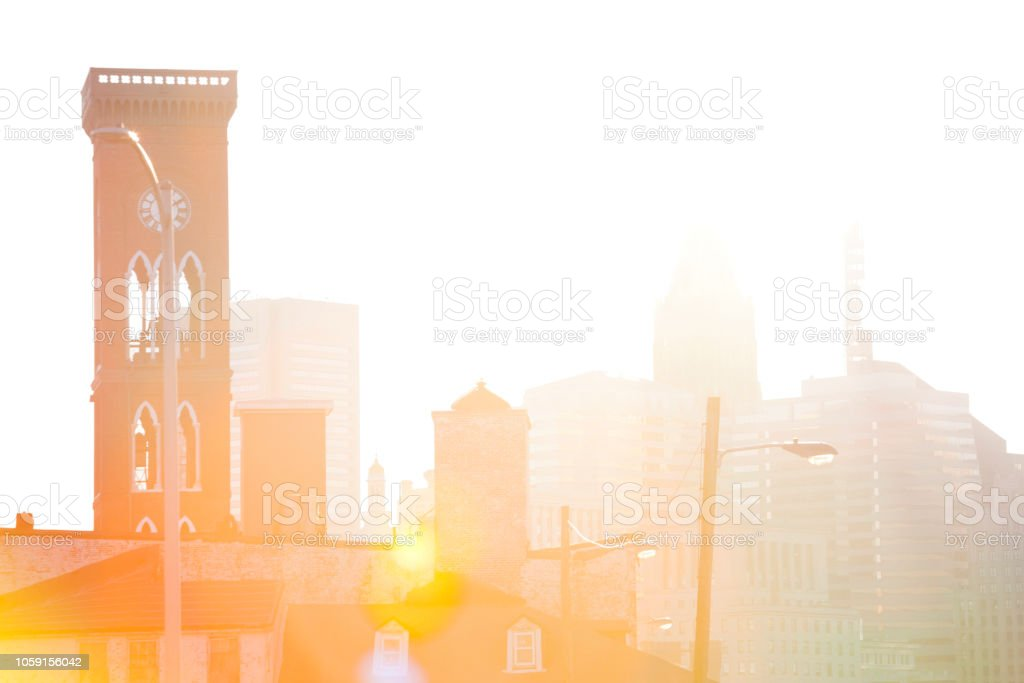 Downtown Baltimore MD stock photo