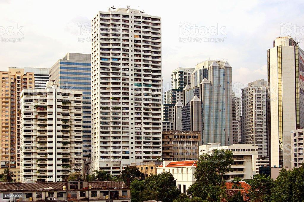 Downtown Bangkok stock photo