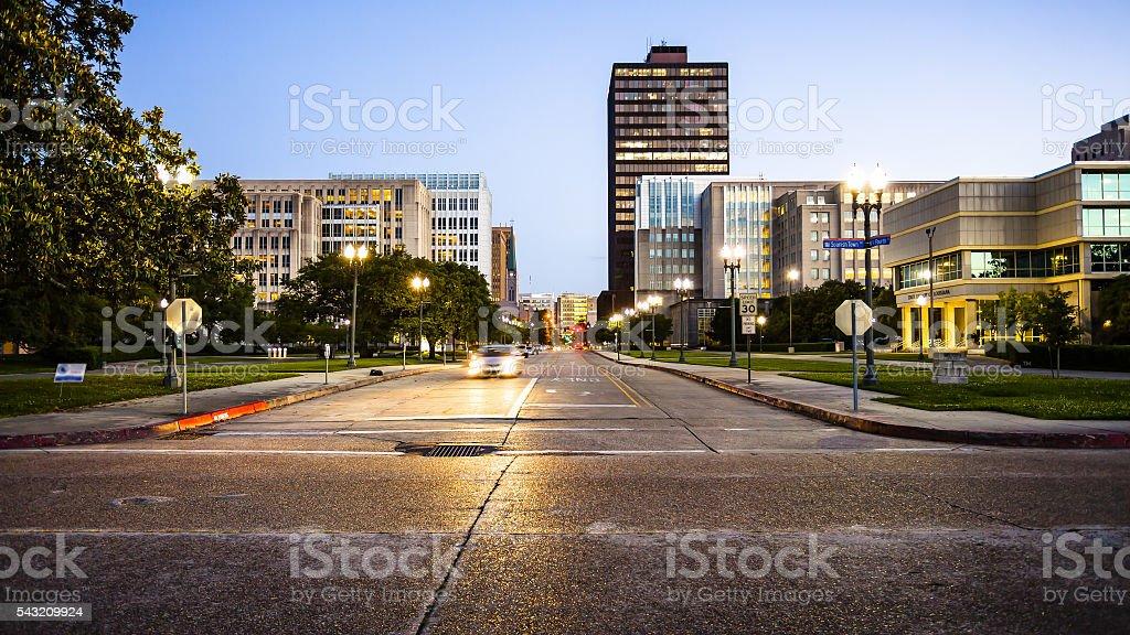 Downtown Baton Rouge, Louisiana Skyline stock photo