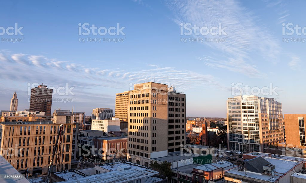 Downtown Baton Rouge stock photo