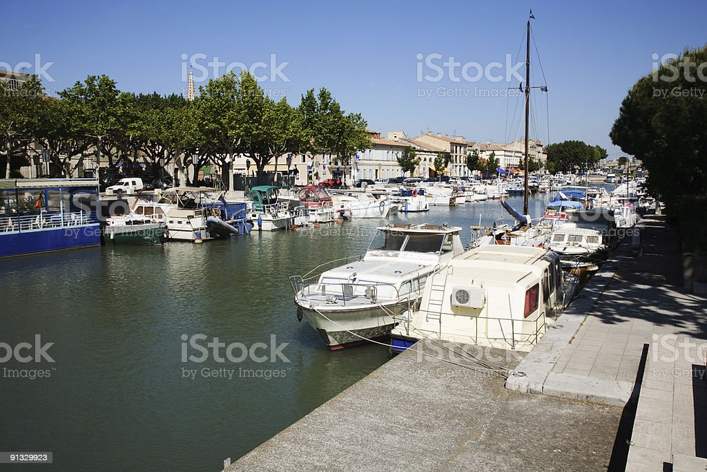 Downtown Beaucaire, France stock photo