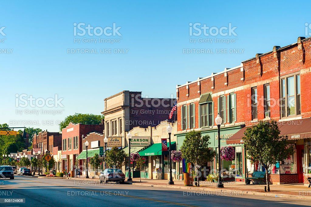 Downtown Bedford stock photo