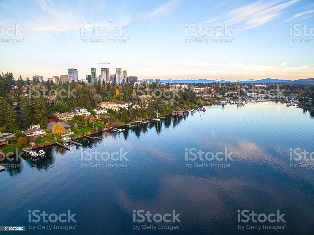 Downtown Bellevue Washington 스톡 사진