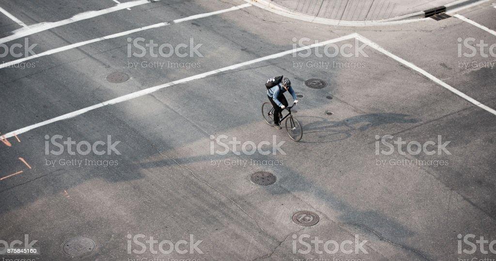 Messager de vélo du centre-ville - Photo