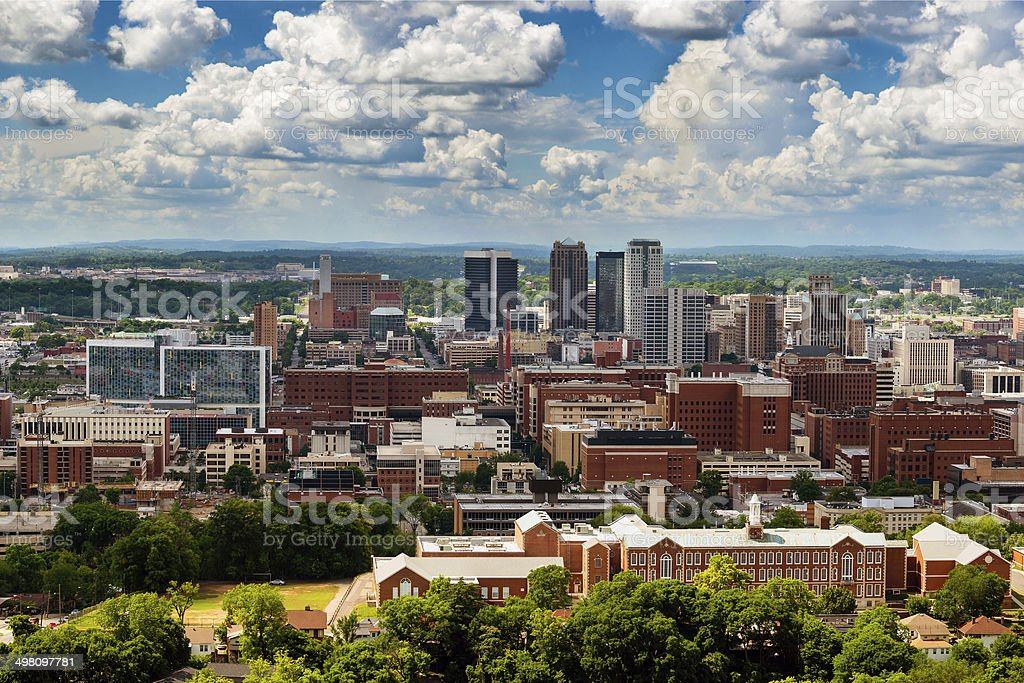 Downtown Birmingham, Alabama stock photo