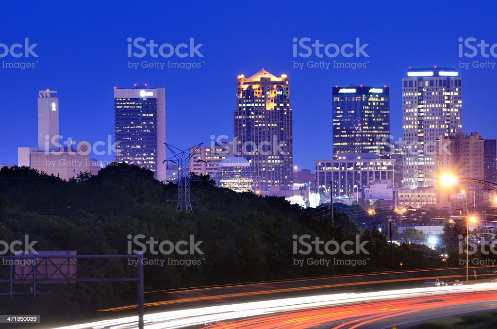 Downtown Birmingham, Alabama Skyline stock photo