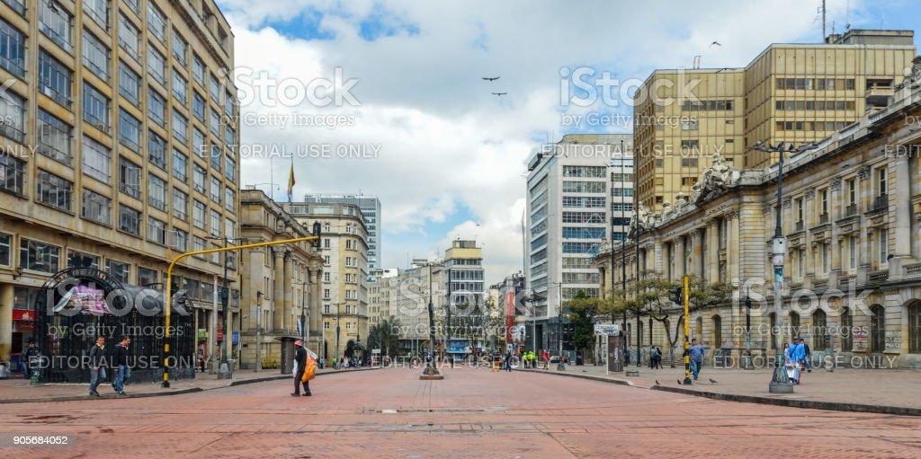Downtown Bogota, Colombia stock photo