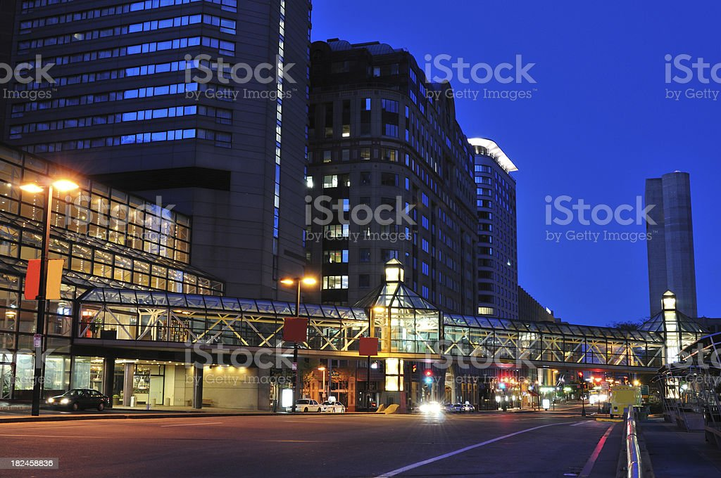 Downtown Boston at Dawn royalty-free stock photo