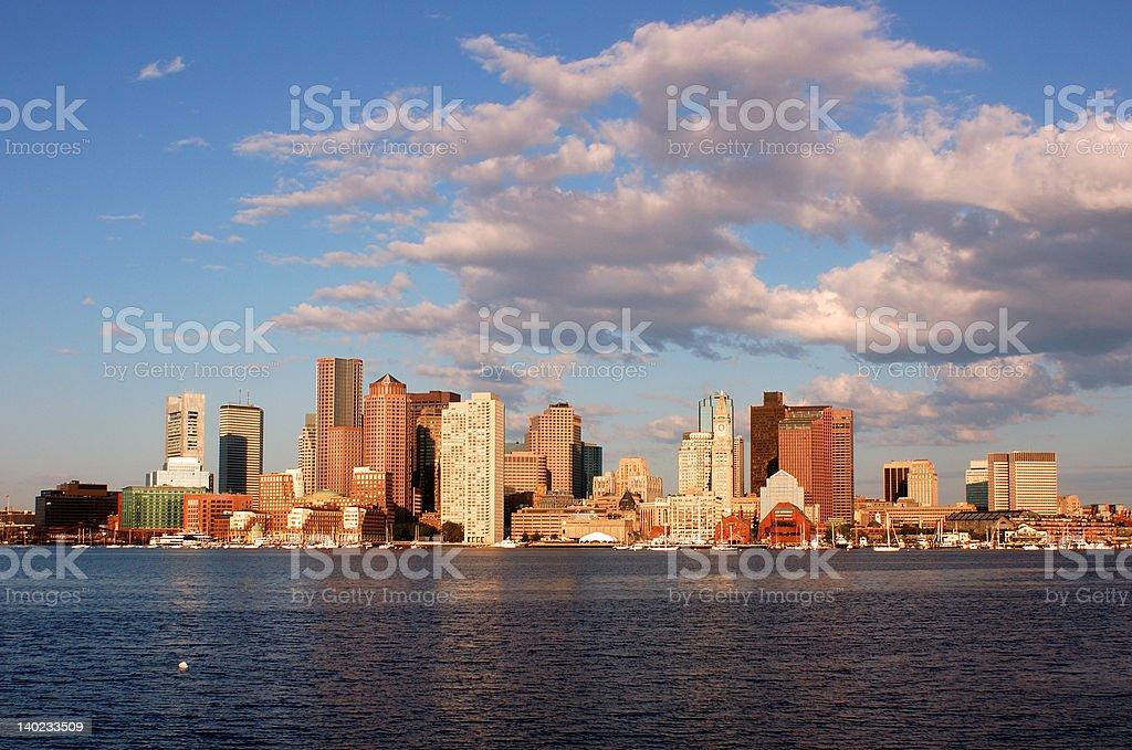 Downtown Boston Hardor View royalty-free stock photo