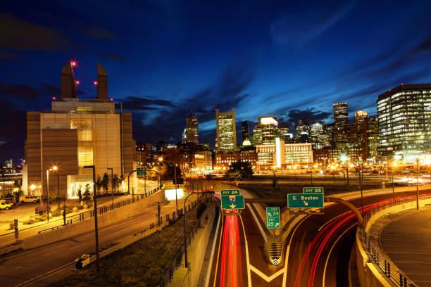 Downtown Boston Massachusetts Skyline stock photo