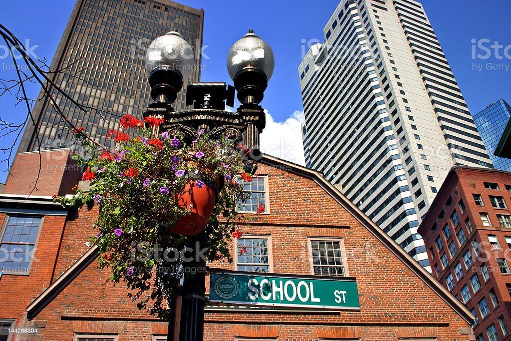 Downtown Boston royalty-free stock photo