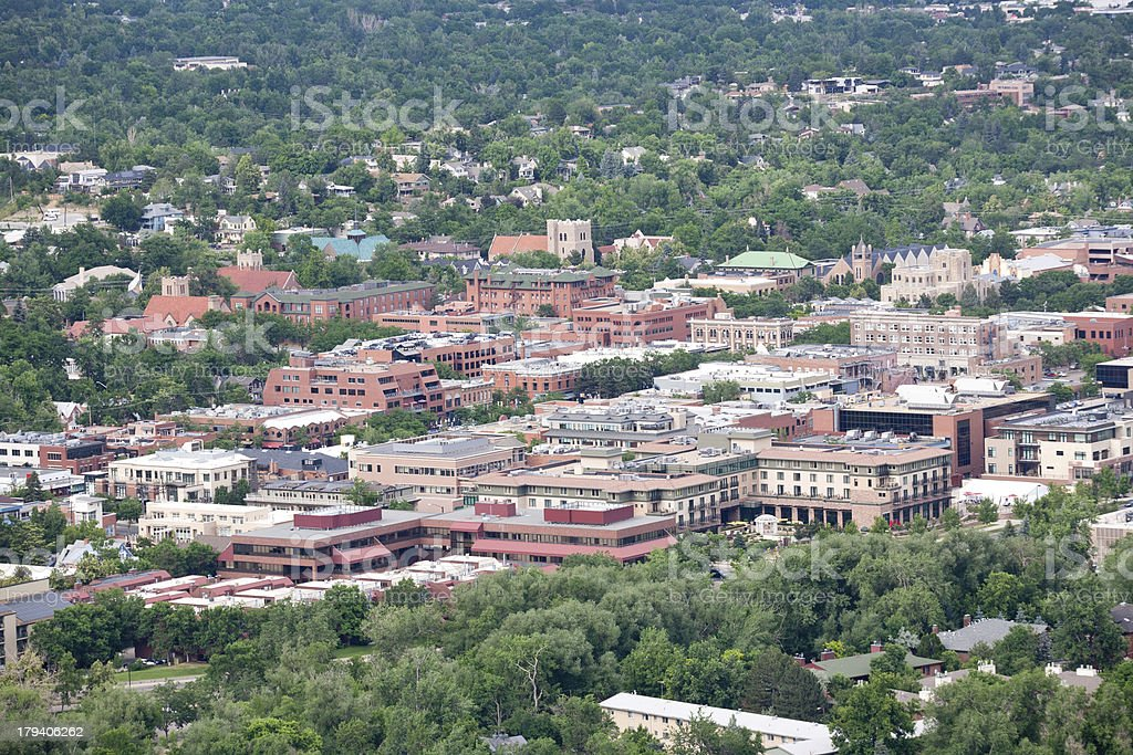 Downtown Boulder, Colorado stock photo