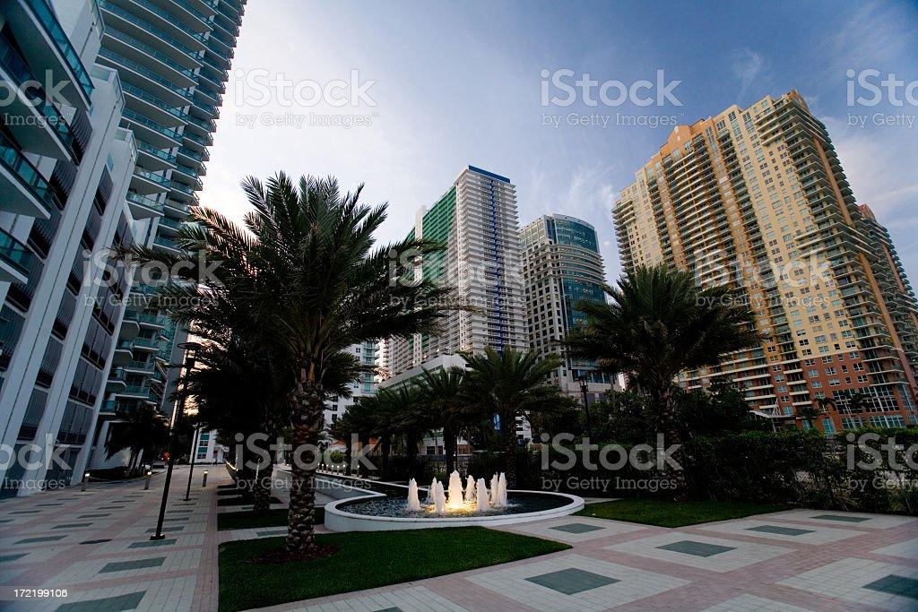 Downtown Brickell Miami Condos stock photo