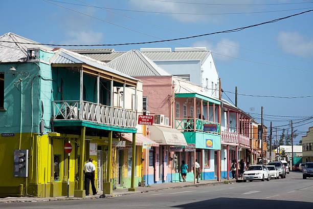 Downtown Bridgetown, Barbados stock photo