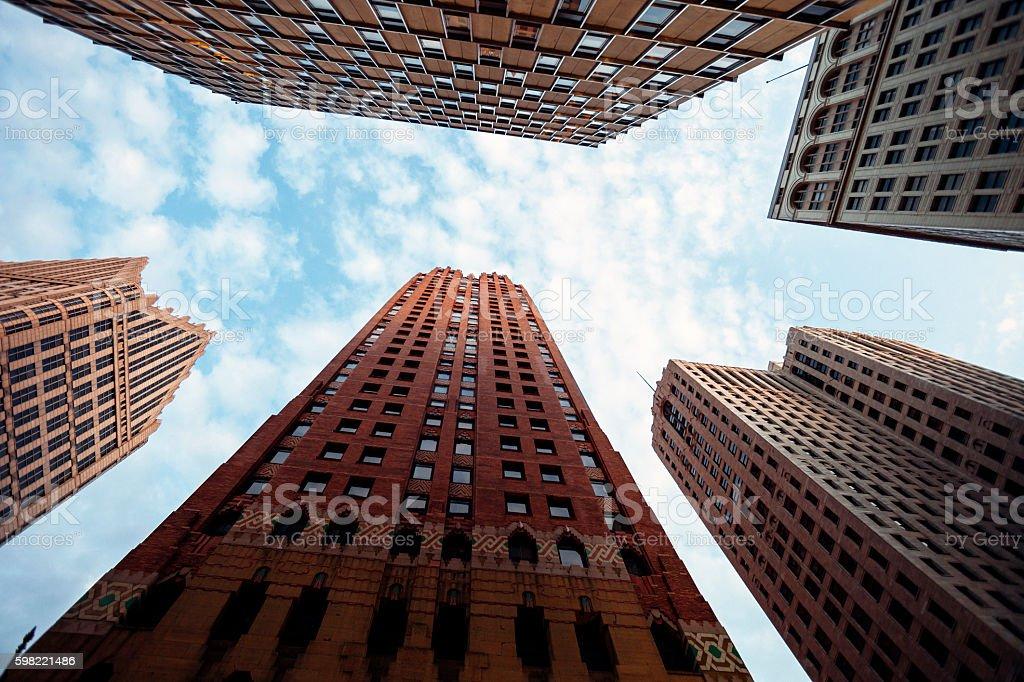 Downtown buildings - Detroit. stock photo