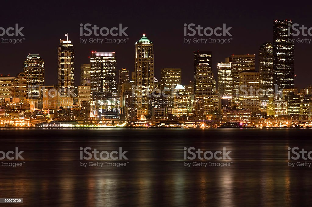 Downtown buildings royalty-free stock photo