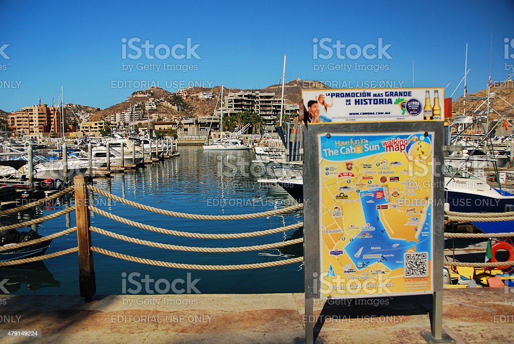 Downtown Cabo San Lucas Map Stock Photo - Download Image Now ...