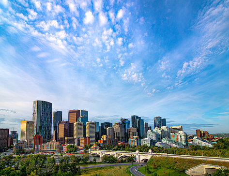 Downtown Calgary 2019 Stock Photo - Download Image Now