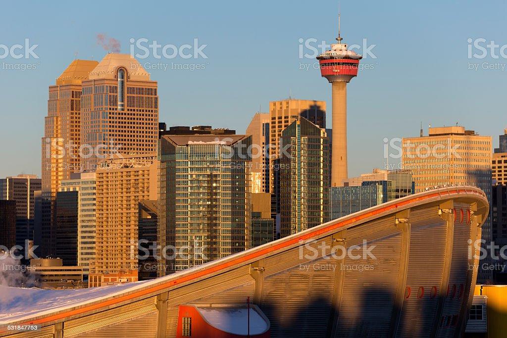 Downtown Calgary Skyline stock photo