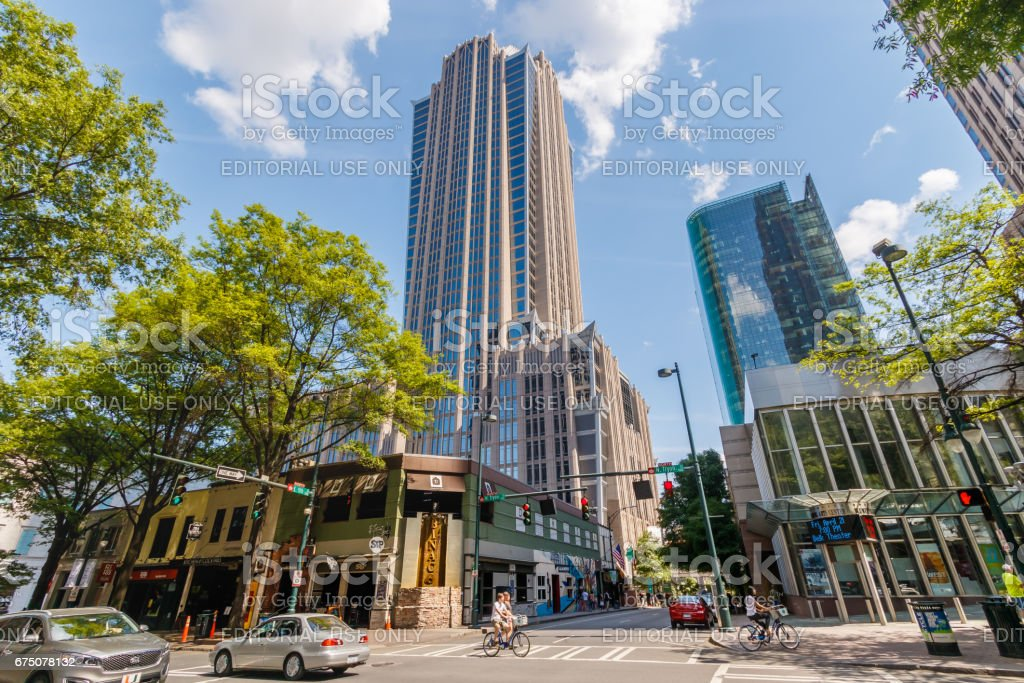 Downtown Charlotte, NC stock photo