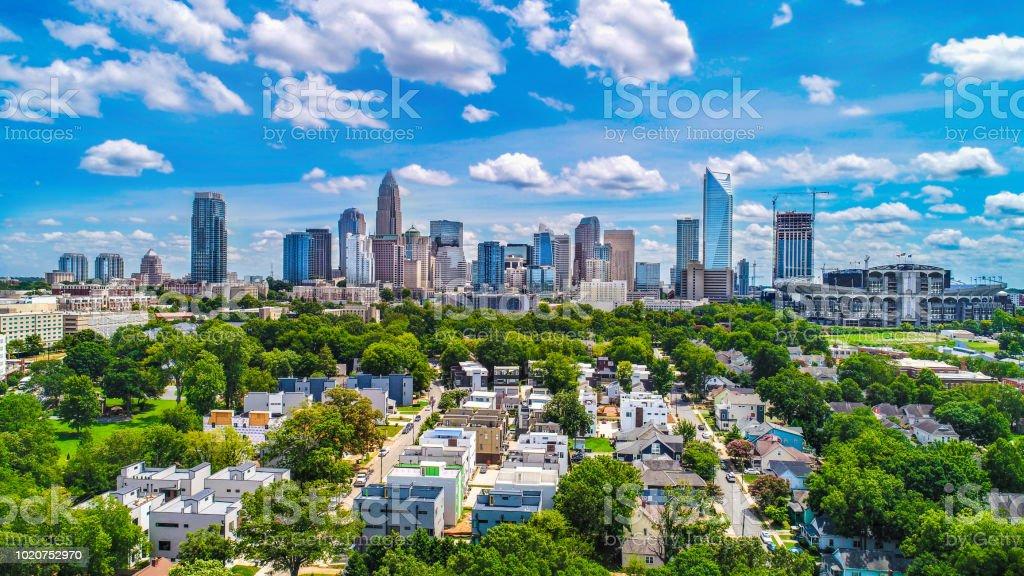 Downtown Charlotte, North Carolina, USA Skyline Aerial