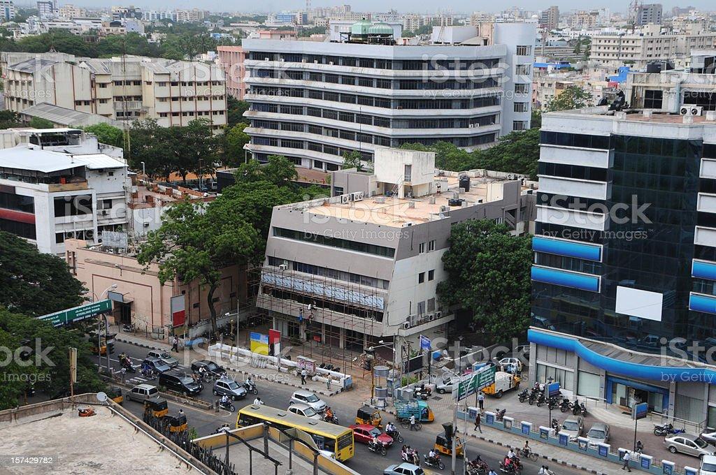 Downtown Chennai stock photo
