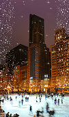 istock Downtown Chicago Ice-rink at Christmas time. 1227241147