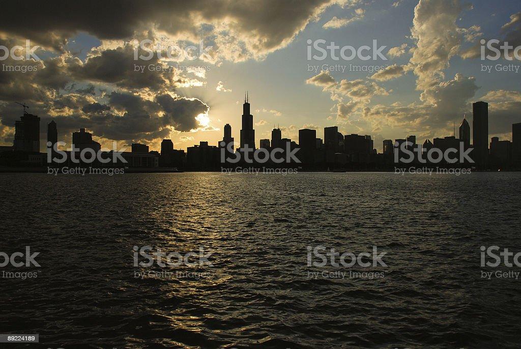 Downtown Chicago, Illinois royalty-free stock photo