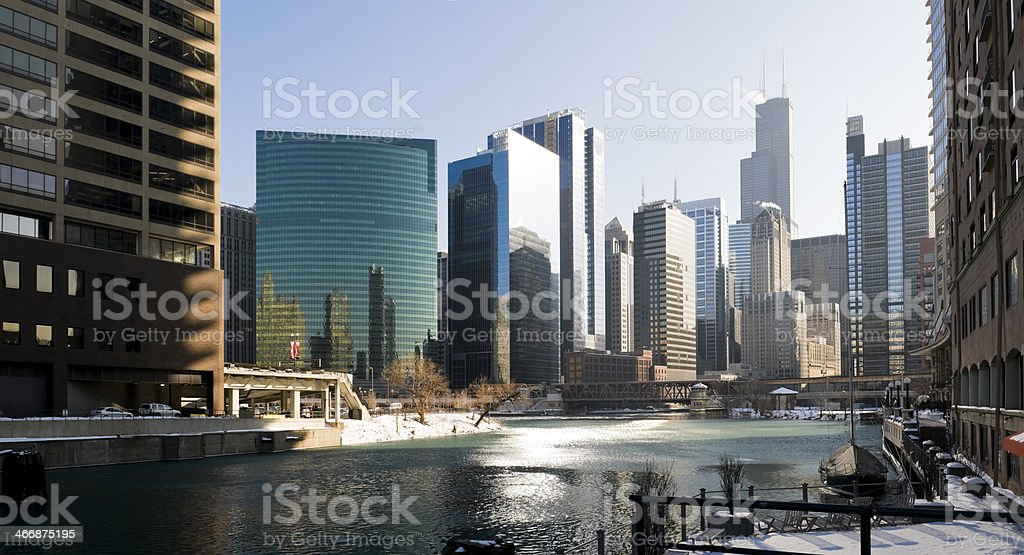 Downtown Chicago Office Buildings stock photo