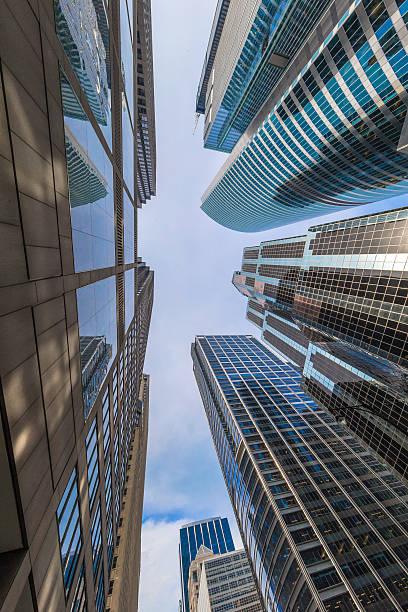 el centro de la ciudad de chicago - edificio hancock chicago fotografías e imágenes de stock
