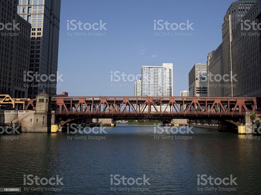 Downtown Chicago River royalty-free stock photo