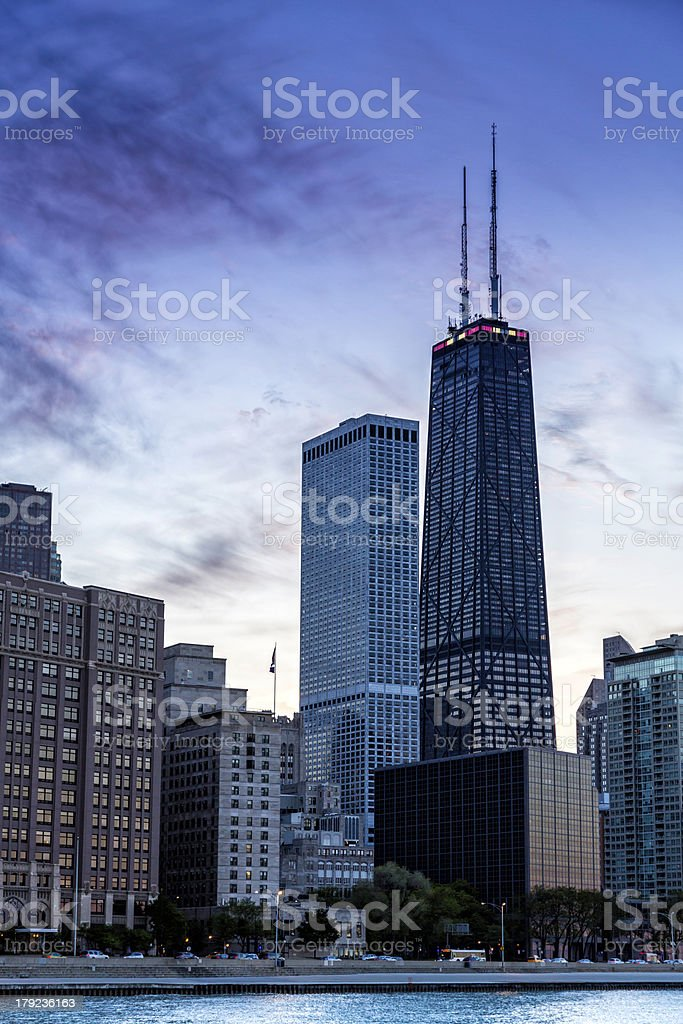 Downtown Chicago skyline royalty-free stock photo