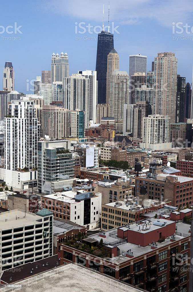 Downtown Chicago Skyscrapers royalty-free stock photo