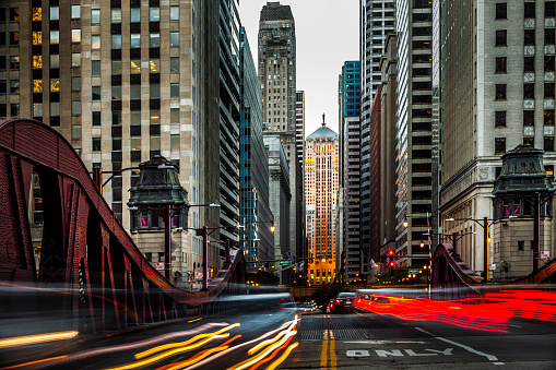 Downtown Chicago Traffic