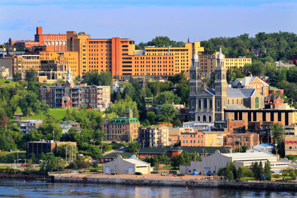 Downtown Chicoutimi City stock photo