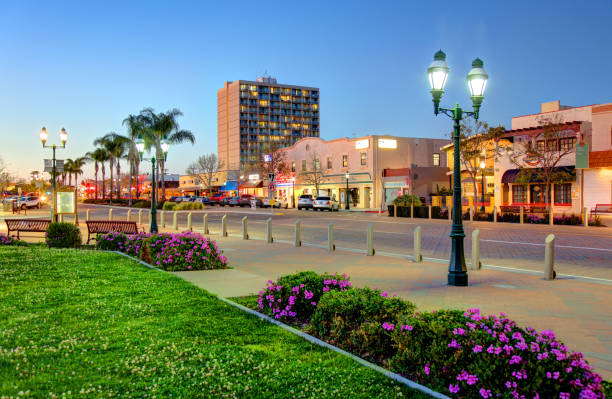 Downtown Chula Vista, California stock photo