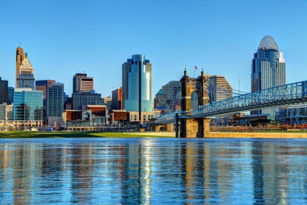 Downtown Cincinnati Ohio Skyline Cincinnati is a city in the U.S. state of Ohio and seat of Hamilton County cincinnati stock pictures, royalty-free photos & images