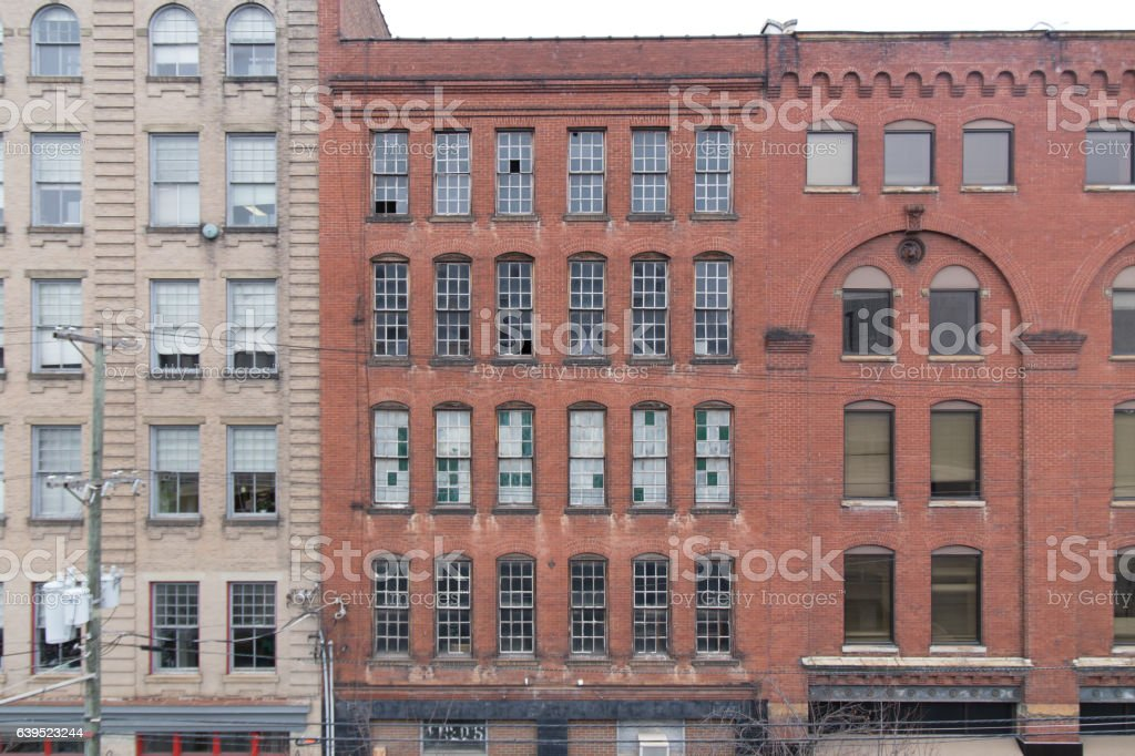 Downtown City Buildings stock photo