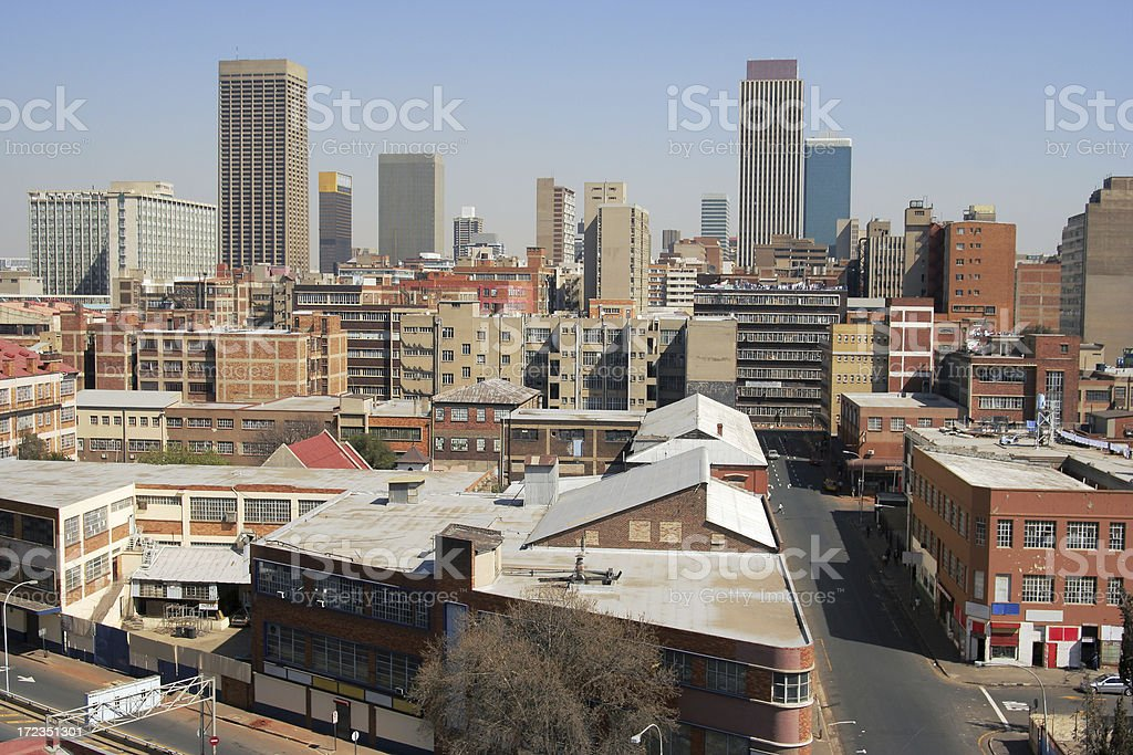 Downtown City Johannesburg, South Africa. royalty-free stock photo