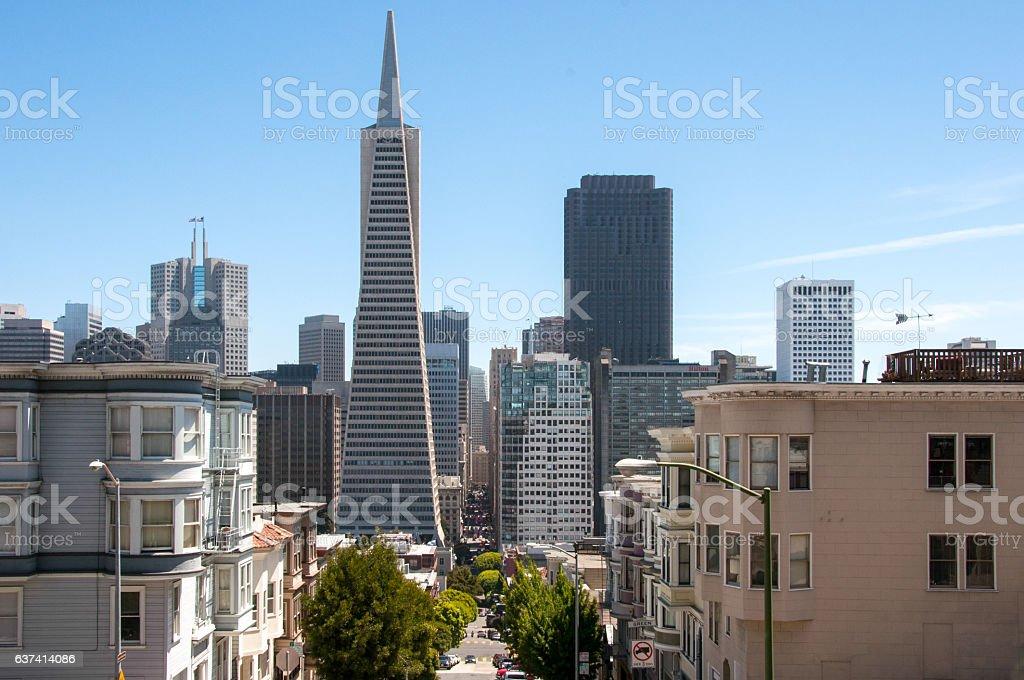 Downtown City of San Francisco, California, USA stock photo