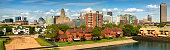 Historic panoramic of the buildings in downtown Buffalo New York USA