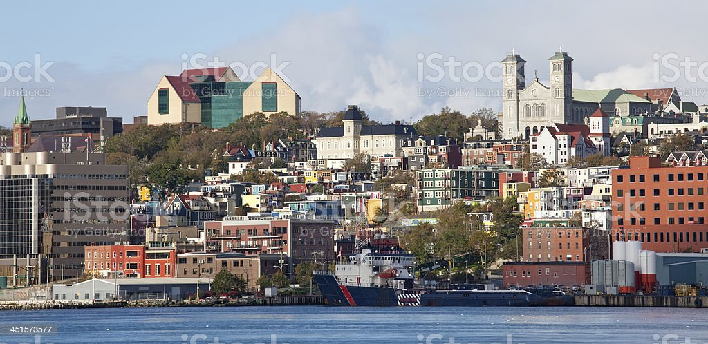 Downtown Cityscape of St. John's Newfoundland royalty-free stock photo