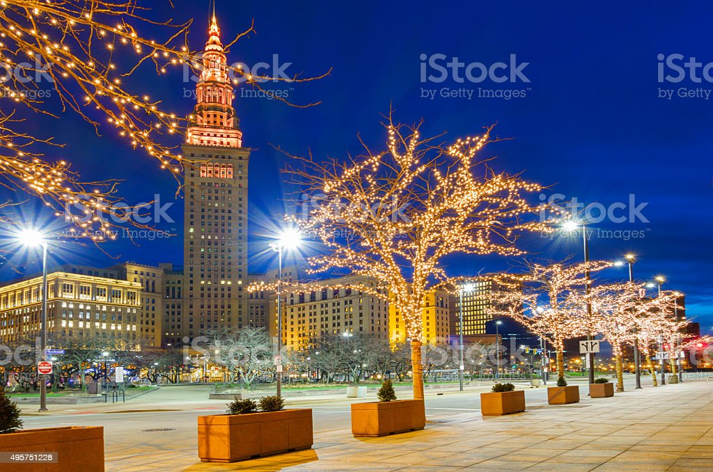 Downtown Cleveland Christmas Lights
